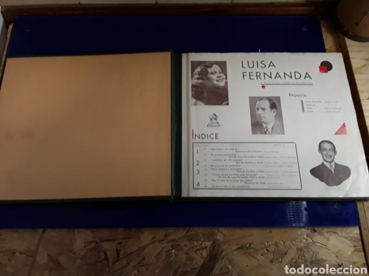 Discos de pizarra: Bonito Album de discos pequeños de pizarra de 24,5cm LUISA FERNANDA DE ODEON - Foto 2 - 200832783