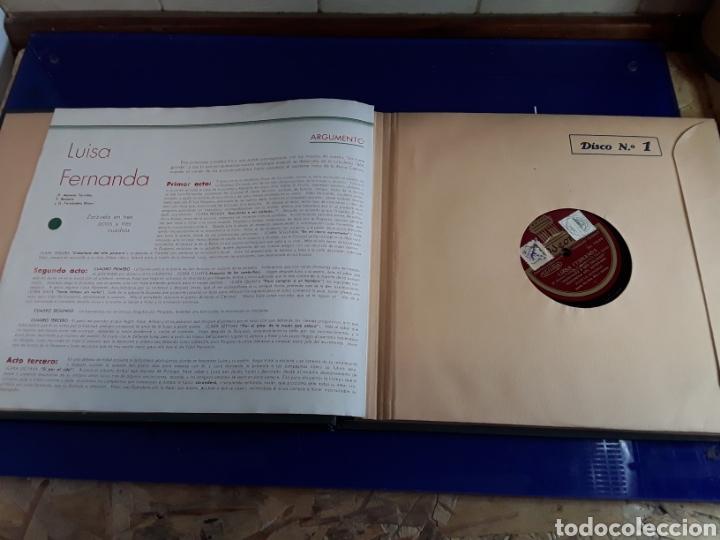 Discos de pizarra: Bonito Album de discos pequeños de pizarra de 24,5cm LUISA FERNANDA DE ODEON - Foto 3 - 200832783