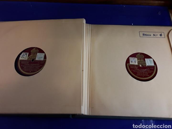 Discos de pizarra: Bonito Album de discos pequeños de pizarra de 24,5cm LUISA FERNANDA DE ODEON - Foto 6 - 200832783