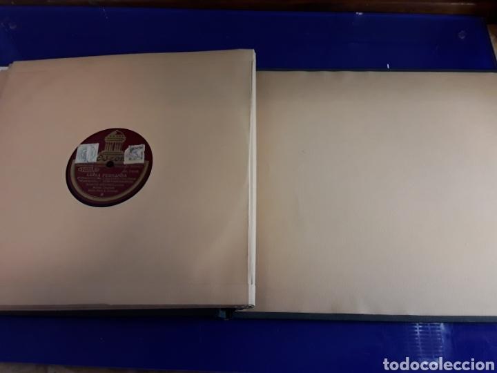 Discos de pizarra: Bonito Album de discos pequeños de pizarra de 24,5cm LUISA FERNANDA DE ODEON - Foto 7 - 200832783