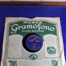 Discos de pizarra: DISCO DE PIZARRA DE 24,5CM,LA VOZ DE SU AMO(COPLAS CE PEDRO ROMERO Y JUDAS). Lote 200841486