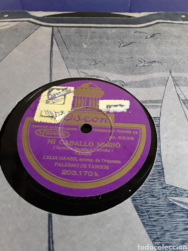 Discos de pizarra: Disco de pizarra de 24,5cm,ODEON,(haceme caso a mi y mi caballo Murio) - Foto 3 - 200843217
