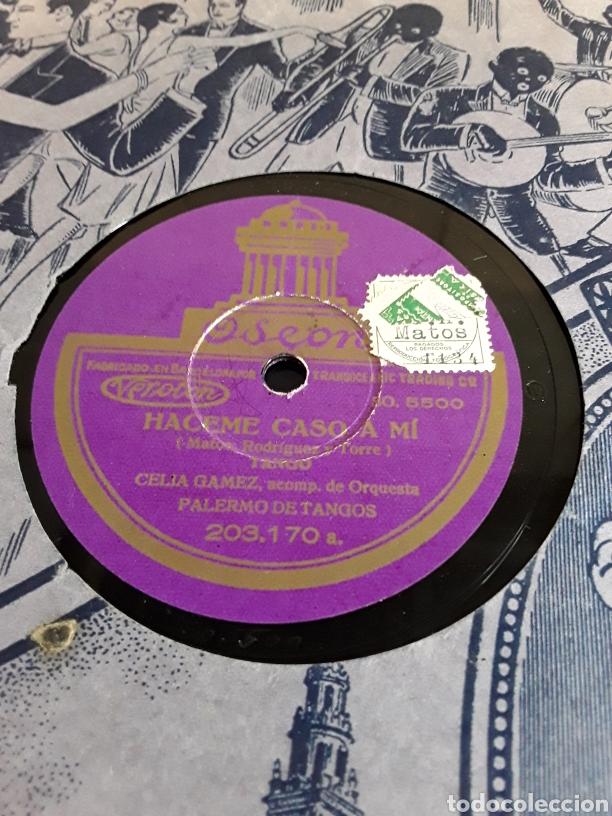 Discos de pizarra: Disco de pizarra de 24,5cm,ODEON,(haceme caso a mi y mi caballo Murio) - Foto 4 - 200843217