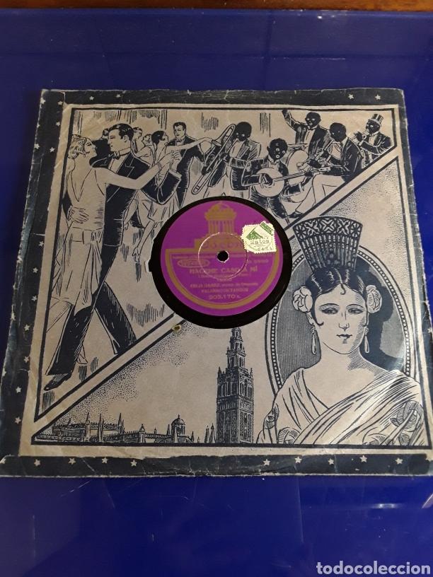 DISCO DE PIZARRA DE 24,5CM,ODEON,(HACEME CASO A MI Y MI CABALLO MURIO) (Música - Discos - Pizarra - Otros estilos)
