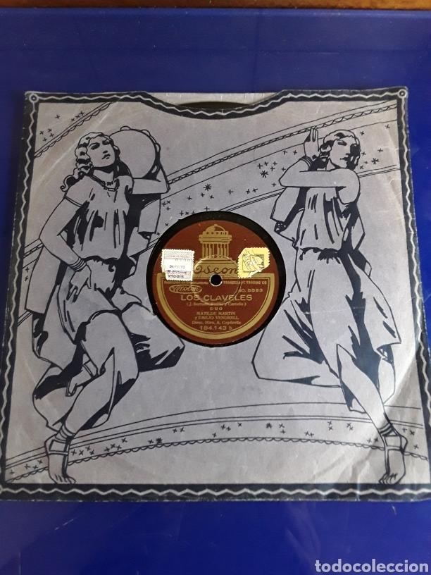 DISCO DE PIZARRA DE 24,5CM,ODEON,(LOS CLAVELES) (Música - Discos - Pizarra - Otros estilos)