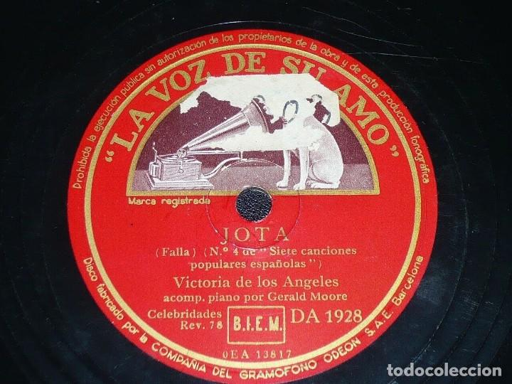 DISCO 78 RPM - VSA - VICTORIA DE LOS ANGELES - OPERA - JOTA - EL PAÑO MORUNO - FALLA - PIZARRA (Música - Discos - Pizarra - Clásica, Ópera, Zarzuela y Marchas)