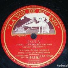Discos de pizarra: DISCO 78 RPM - VSA - VICTORIA DE LOS ANGELES - OPERA - JOTA - EL PAÑO MORUNO - FALLA - PIZARRA. Lote 201253378