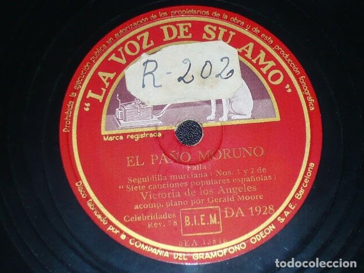 Discos de pizarra: DISCO 78 RPM - VSA - VICTORIA DE LOS ANGELES - OPERA - JOTA - EL PAÑO MORUNO - FALLA - PIZARRA - Foto 2 - 201253378