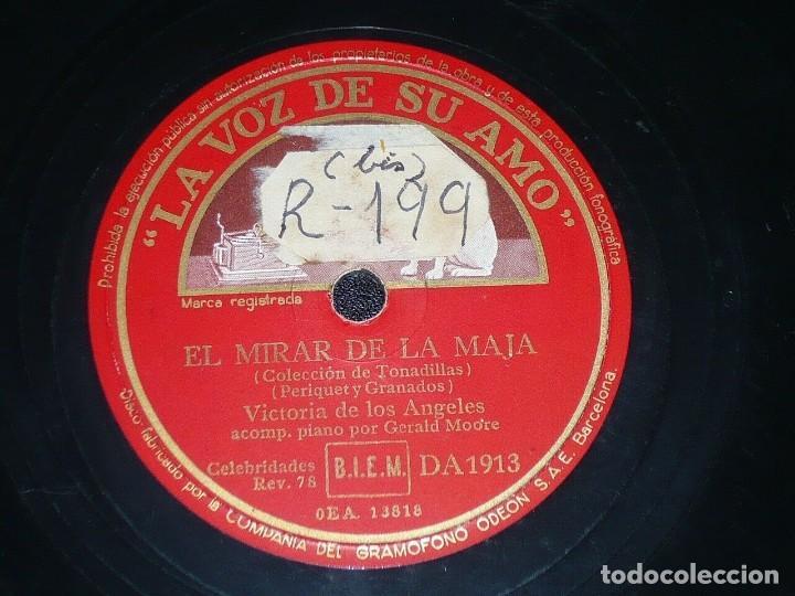 Discos de pizarra: DISCO 78 RPM - VSA - VICTORIA DE LOS ANGELES - OPERA - PIANO - FARRUCA - CLAVELITOS - PIZARRA - Foto 2 - 201526788
