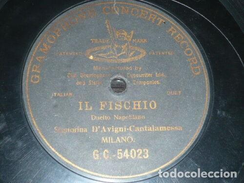 DISCO 78 RPM - G&T BLACK - D´AVIGNY - CANTALAMESSA - OPERA - IL FISCHIO - DUO NAPOLITANO - PIZARRA (Música - Discos - Pizarra - Clásica, Ópera, Zarzuela y Marchas)
