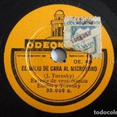Dischi in gommalacca: TORESKY - EL MILIU DE CARA AL MICRÓFONO / EL MILIU VA A PEU - ODEONETTE 30.008 . Lote 201670260