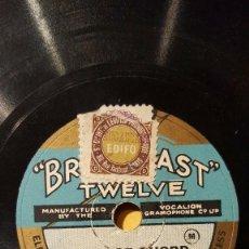 Discos de pizarra: DISCO 78 RPM - BROADCAST TWELVE - GWEN LEWIS - ORGANO - OPERA - THE LOST CHORD - SULLIVAN - PIZARRA. Lote 201783288