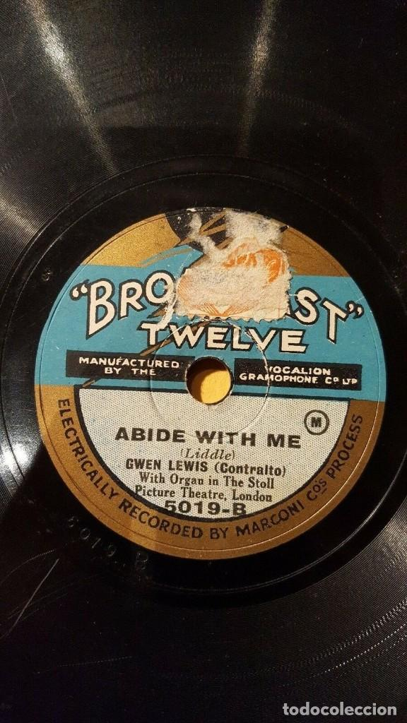 Discos de pizarra: DISCO 78 RPM - BROADCAST TWELVE - GWEN LEWIS - ORGANO - OPERA - THE LOST CHORD - SULLIVAN - PIZARRA - Foto 2 - 201783288