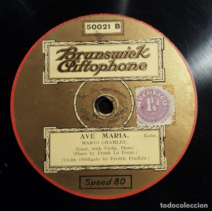 Discos de pizarra: DISCO 78 RPM - BRUNSWICK - MARIO CHAMLEE - AGNUS DEI - BIZET - AVE MARIA - KAHN - OPERA - PIZARRA - Foto 2 - 201784690