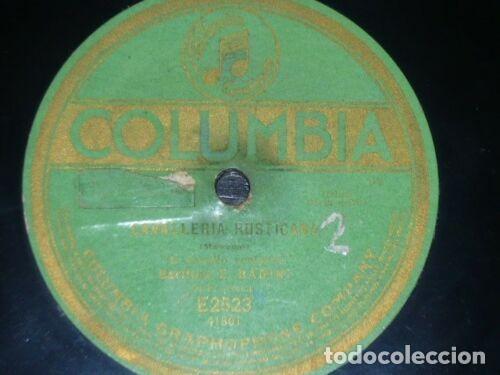 Discos de pizarra: DISCO 78 RPM - COLUMBIA - BADINI - SIMONTI - OPERA - CAVALLERIA RUSTICANA - MASCAGNI - PIZARRA - Foto 2 - 201786067