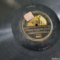Discos de pizarra: 78 RPM SUSPIROS DE ESPAÑA. Lote 202104200