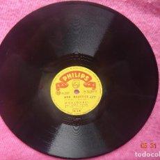 Discos de pizarra: MOULOUDJI - LES RUES DE PARIS / MON QUARTIER - PHILIPS N 72.029 H - PIZARRA 78 RPM - VG !!. Lote 202501380