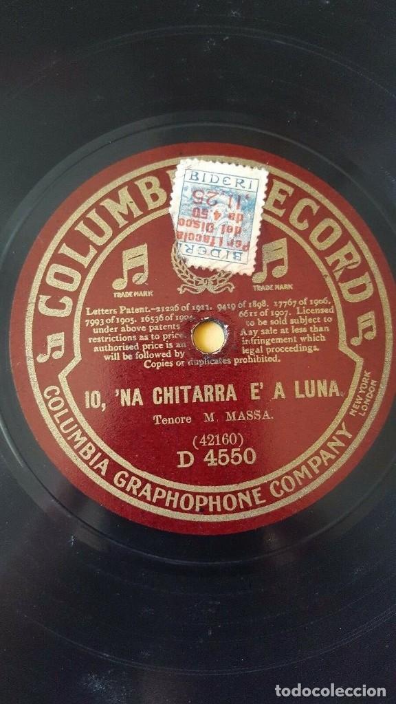 DISCO 78 RPM - COLUMBIA - MASSA - CLEMENTE - TENOR - AMOR DI PASTORELLO - ITALIA - OPERA - PIZARRA (Música - Discos - Pizarra - Clásica, Ópera, Zarzuela y Marchas)