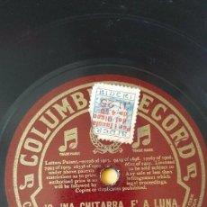 Discos de pizarra: DISCO 78 RPM - COLUMBIA - MASSA - CLEMENTE - TENOR - AMOR DI PASTORELLO - ITALIA - OPERA - PIZARRA. Lote 202683816