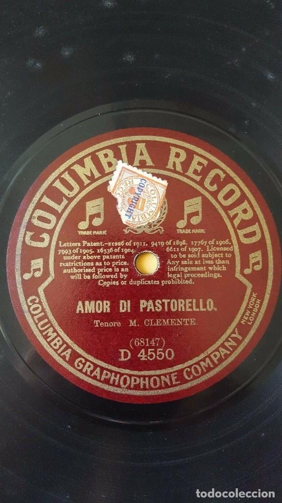 Discos de pizarra: DISCO 78 RPM - COLUMBIA - MASSA - CLEMENTE - TENOR - AMOR DI PASTORELLO - ITALIA - OPERA - PIZARRA - Foto 2 - 202683816