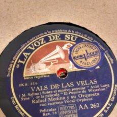 Discos de pizarra: VALS DE LAS VELAS. INTERMEZZO. DISCO DE PIZARRA. Lote 202773313