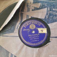 Discos de pizarra: SABICAS SOLO DE GUITARRA/ PIZARRA. Lote 203034162