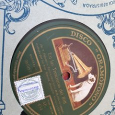 Discos de pizarra: EN LAS AVANZADAS, 78 RPM. Lote 203149620