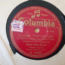 Discos de pizarra: LUISA FERNANDA DISCO DE PIZARRA. Lote 203149755