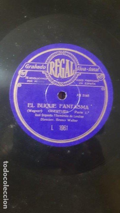 Discos de pizarra: Disco de REGAL de pizarra EL BUQUE FANTASMA de Real Orquesta Filarmonica de Londres - Foto 2 - 203263896