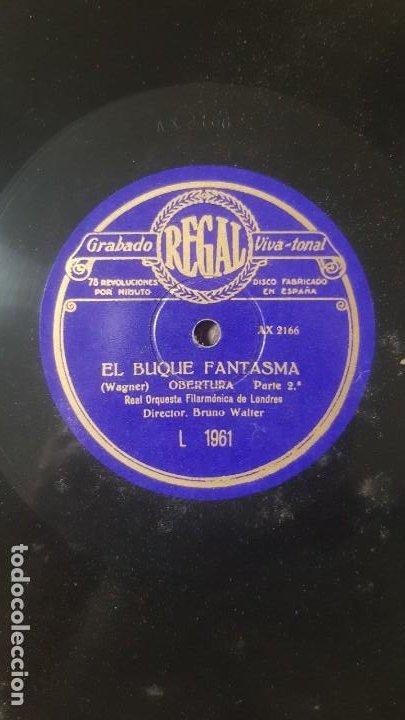 Discos de pizarra: Disco de REGAL de pizarra EL BUQUE FANTASMA de Real Orquesta Filarmonica de Londres - Foto 3 - 203263896