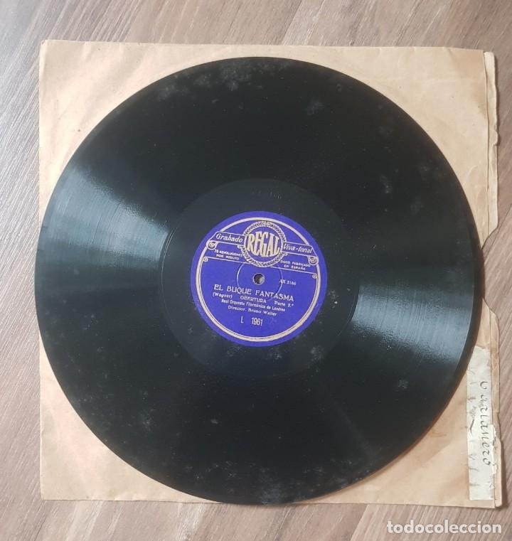 Discos de pizarra: Disco de REGAL de pizarra EL BUQUE FANTASMA de Real Orquesta Filarmonica de Londres - Foto 4 - 203263896