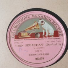 Discos de pizarra: 78 RPM CARUSO. Lote 203440505
