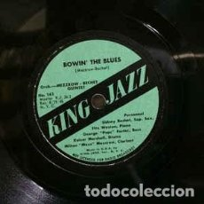 Discos de pizarra: DISCO PIZARRA. MEZZROW - BECHET QUINTET. BOWIN´ THE BLUES / OLD SCHOOL .. Lote 203594755