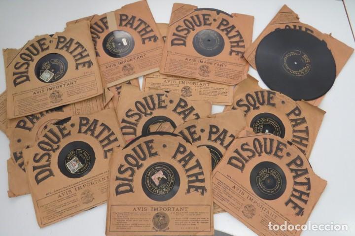 LOTE 11 DISCOS - DISQUE PATHE - FRANCIA (Música - Discos - Pizarra - Otros estilos)