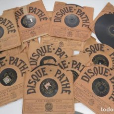 Discos de pizarra: LOTE 11 DISCOS - DISQUE PATHE - FRANCIA. Lote 203777690