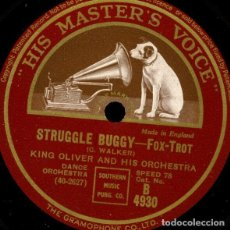 Discos de pizarra: DISCO PIZARRA .KING OLIVER AND HIS ORCHESTRA. STRUGGLE BUGGY / DON´T YOU THINK I LOVE YOU ?.. Lote 203787328