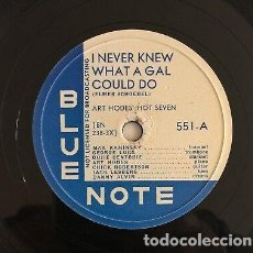 Discos de pizarra: DISCO PIZARRA. ART HODE´S HOT SEVEN. MR. JELLY LORD / I NEVER KNEW WHAT A GAL COULD DO.. Lote 204449193