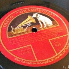 Discos de pizarra: 3 DISCOS DE GRAMÓFONO 31CM. - CONCIERTO DE VIOLÍN EN RE MAYOR (BEETHOVEN). DB. 990, 991 Y 992.. Lote 204645737