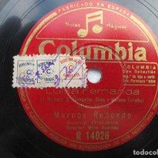 Discos de pizarra: MARCOS REDONDO (LUISA FERNANDA) ROMANZAS / DUO DE LA MONTARAZA (COLUMBIA R 14026. Lote 204686405