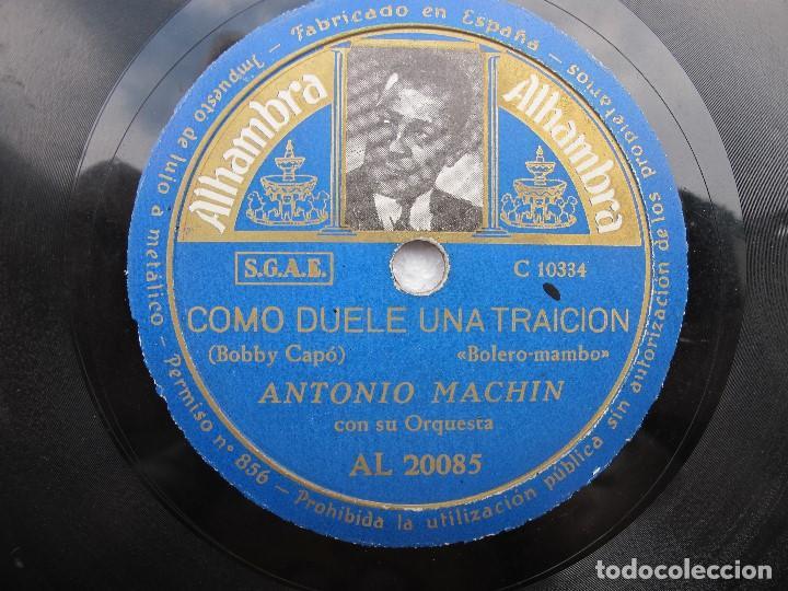 ANTONIO MACHN / NAVIDAD / COMO UELE UNA TRAICION (ALHAMBRA AL 20085) (Música - Discos - Pizarra - Solistas Melódicos y Bailables)