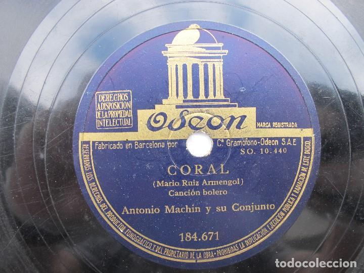 ANTONIO MACHN / UN ANGEL FUE / CORAL (ODEON 184.671 (Música - Discos - Pizarra - Solistas Melódicos y Bailables)