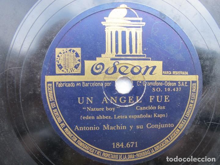 Discos de pizarra: ANTONIO MACHN / UN ANGEL FUE / CORAL (ODEON 184.671 - Foto 2 - 204689745