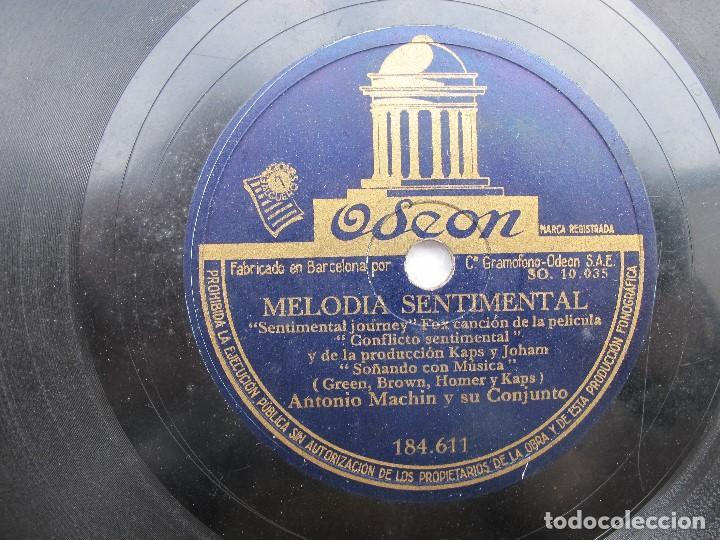 ANTONIO MACHN / TODO PUEDE SER / MELODIA SENTIMENTAL (ODEON 184.611) (Música - Discos - Pizarra - Solistas Melódicos y Bailables)
