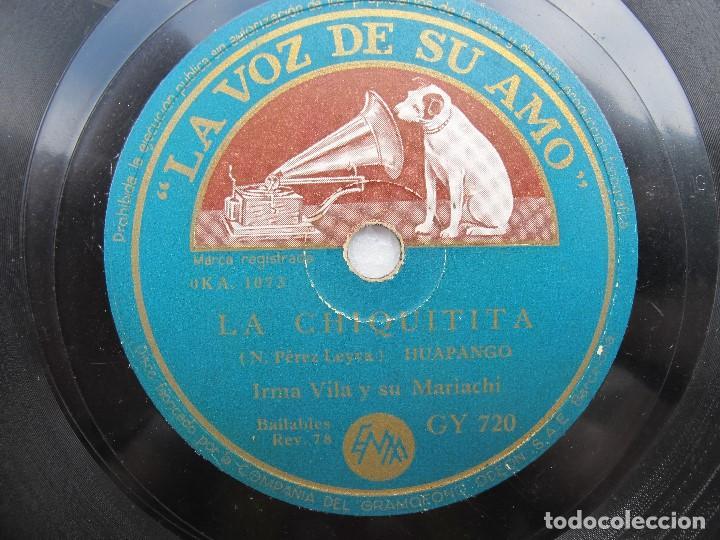 IRMA VILA Y SU MARIACHI / QUE LINDO ES MICHO-CAN / LA CHIQUITITA (LA VOZ DE SU AMO GY 720) (Música - Discos - Pizarra - Solistas Melódicos y Bailables)