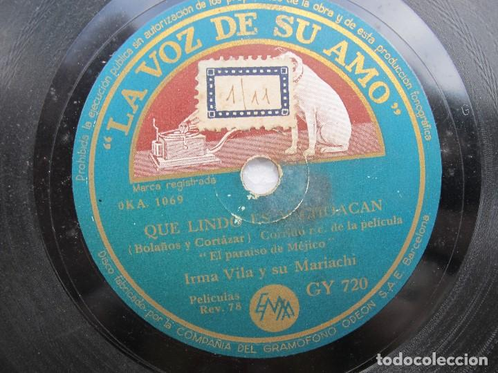 Discos de pizarra: IRMA VILA Y SU MARIACHI / QUE LINDO ES MICHO-CAN / LA CHIQUITITA (LA VOZ DE SU AMO GY 720) - Foto 2 - 204692040