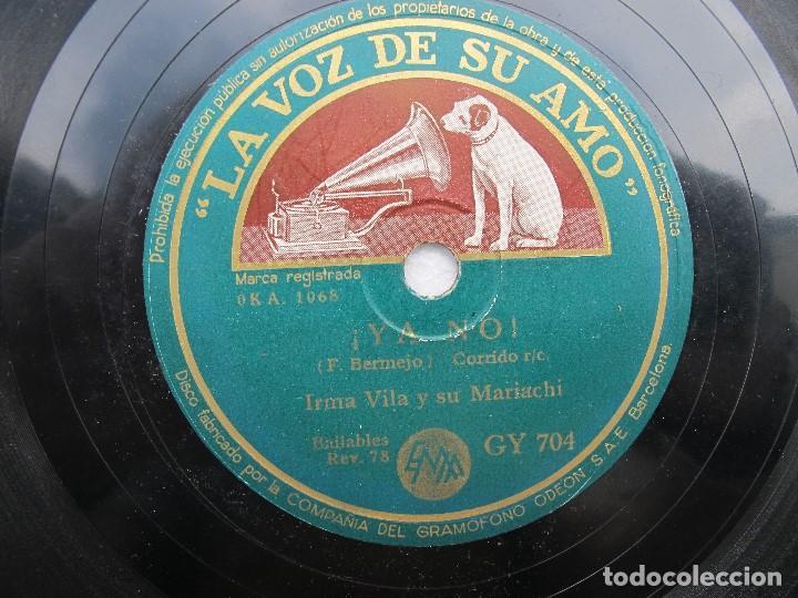 IRMA VILA Y SU MARIACHI / LA MALAGUEÑA / ¡YA NO! (LA VOZ DE SU AMO GY 704) (Música - Discos - Pizarra - Solistas Melódicos y Bailables)