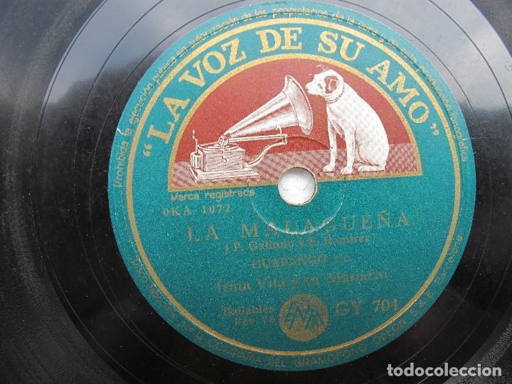 Discos de pizarra: IRMA VILA Y SU MARIACHI / LA MALAGUEÑA / ¡YA NO! (LA VOZ DE SU AMO GY 704) - Foto 2 - 204692726