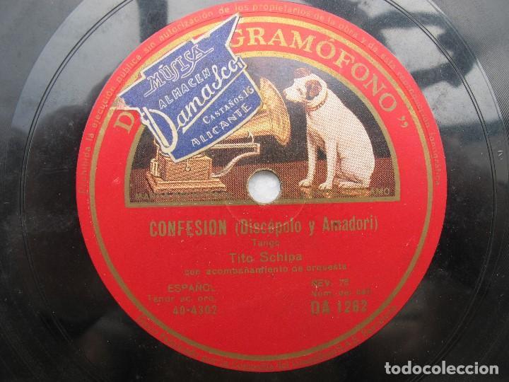 TITO SCHIPA / OJOS LINDOS Y MISTERIOSOS / CONFESION (GRAMOFONO DA 1262) (Música - Discos - Pizarra - Solistas Melódicos y Bailables)