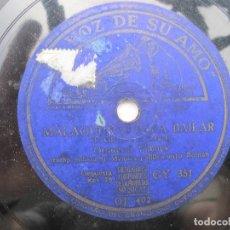 Dischi in gommalacca: ORQUESTA VILCHES / SEVILLANAS PARA BAILAR / MALAGUEÑAS PARA BAILAR (LA VOZ DE SU AMO GY 351). Lote 204698787
