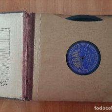 Discos para gramofone: ALBUM DE DISCOS CON CINCO EJEMPLARES DE PIZARRA. Lote 205007642